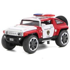 Xe mô hình Police bằng sắt chạy đà phát nhạc