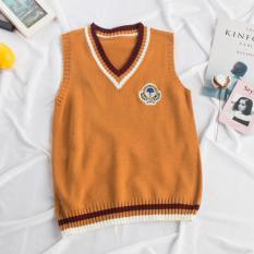 2018 Thu Đông Mẫu Mới Kiểu Hàn Quốc Lỏng Phong Cách Học Đường Nhiều Kiểu Phối Đồ Dệt Kim Áo Gile Ba Lỗ Nữ Áo Len Sinh Viên Sợi Len Áo Không Tay