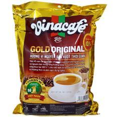 Cà phê hòa tan 3 trong 1 Vinacafé Gold Original bịch 40 gói x 20g