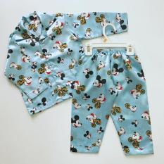 Pijama phi bóng cho bé hình Mickey