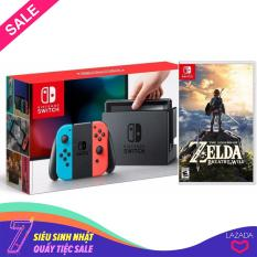 COMBO Máy chơi Game Nintendo Switch With Neon Blue Red Joy-Con + The Legend of Zelda: Breath of the Wild