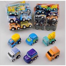 Set 6 ô tô Mini Bánh Đà Nhỏ Xinh Cho Bé, Xe ô tô đồ chơi quán tính chạy đà cho bé, chi tiết sắc sảo, chạy rất khỏe, bền và đẹp – Guty Mart