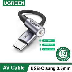 Dây giắc chuyển đổi cổng USB type C sang giắc cắm 3.5mm có chip DAC dài 10cm cao cấp UGREEN 80154