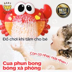 Cua đồ chơi tạo bong bóng xà phòng cho bé thích thú khi tắm