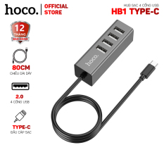 Hub sạc Hoco HB1 chia 4 cổng USB 2.0 dài 80cm