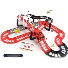 Bộ đồ chơi trẻ em lắp ráp đường ray xe lửa vui nhộn, tương tác giáo dục sớm cho bé
