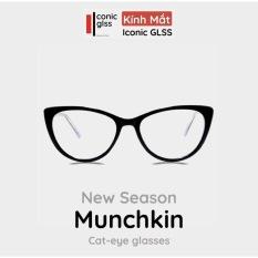 Kính cận mắt mèo MUNCHKIN cao cấp chất liệu titanium siêu nhẹ mắt giả cận thời trang hàn quốc