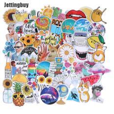 Jettingbuy Kcy 53 Miếng dán sticker nhiều màu sắc kích thước 5-11cm bằng chất liệu PVC không thấm nước thích hợp trang trí va li/đàn guitar/máy tính – INTL