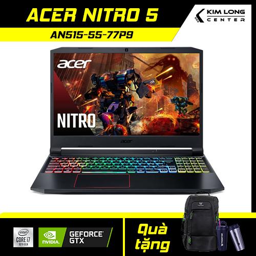[SALE 1 TRIỆU] Laptop Gaming ACER NITRO 5 AN515-55-77P9 (NH.Q7NSV.003) : i7-10750H | 8GB RAM | 512GB SSD | GTX 1650Ti 4GB + Intel UHD Graphics 630 | 15.6 FHD IPS 144Hz | WIN 10 | BLACK