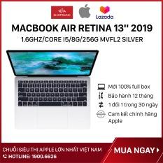 Laptop Macbook Air Retina 13 inch 2019 1.6GHz/core i5/8G/256G, Silver MVFL2, Hàng chính hãng Apple, Hàng mới 100%, Nguyên seal, Bảo hành 12 tháng – Shopdunk