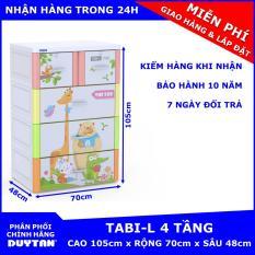 Tủ nhựa Duy Tân TABI-L 4 tầng (Đa Sắc – Vườn Thú)