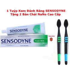 [FREE SHIP] 1 Tuýt Kem đánh răng sensodyne chống ê buốt thái lan tặng 2 bàn chải NaNo CAO CẤP