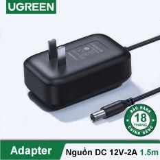 Củ nguồn DC 12V-2A adapter đạt chuẩn 3C dài 1.5m UGREEN 20359