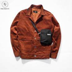 Áo Jacket Nhung Lót Lụa Perky Outfit S/C AK001 – Áo khoác nam chất liệu nhung cao cấp mềm mịn có lớp lót lụa cực sang và thoải mái – Phù hợp thời tiết Thu Đông