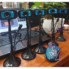 (Bảo hành 06 tháng) Webcam Chân Cao có mic dùng cho máy tính có tích hợp mic và đèn Led trợ sáng – Webcam máy tính để bàn siêu nét