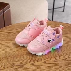 Giày trẻ em đẹp họa tiết hoạt hình, có đèn led lấp lánh dành cho bé trai, bé gái 1-7 tuổi