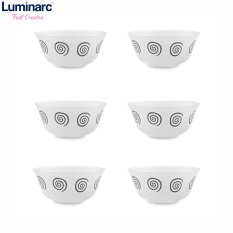Bộ 6 Chén thủy tinh Luminarc Sirocco Brown 12cm