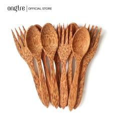 Bộ Muỗng (Thìa), Nĩa gỗ Dừa tự nhiên | ongtre® (Vietnam)