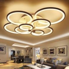 Đèn mâm LED ốp trần hiện đại trang trí phòng khách- Đèn Led ốp trần 8 cánh tròn, Có điều khiển phân tầng 3 chế độ- Lắp đặt đơn giản, dễ dàng sử dụng