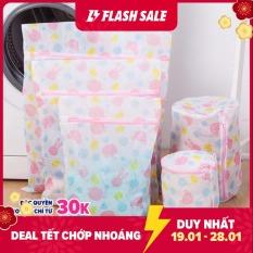 Bộ gồm 5 túi lưới giặt đủ cỡ quần áo KamiHome/ Chất liệu: Vải lưới chắc chắn; Khóa kéo kín/ Màu sắc Họa tiết: Ngẫu nhiên