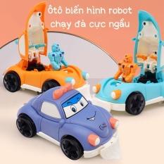Đồ chơi ô tô biến hình robot chạy đà, màu sắc bắt mắt , chất liệu an toàn dành cho bé trai từ 2 đến 10 tuổi, Cực kì bền bỉ, không sợ bị hỏng khi bé đánh rơi