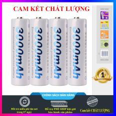 Pin sạc, pin Ni-mh dung lượng cao micro karaoke 1.2V 3000mAh, pin tiểu sạc chuyên mic không dây (01 viên-trắng)
