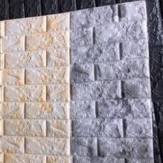5 Xốp dán tường giả đá màu vàng nhạt