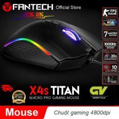 Chuột Gaming Fantech TITAN X4S ( LED Chroma + phần mềm riêng )- Hãng Phân Phối Chính Thức