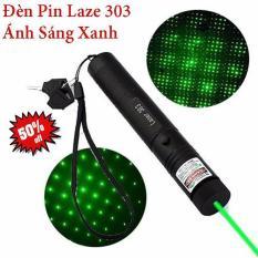 Đèn pin Laze 303 chiếu xa nhiều hình cực đẹp – Trọn bộ gồm đèn laser, bộ sạc, pin Li-ion, chìa khóa an toàn, sách hướng dẫn, hộp đựng sản phẩm