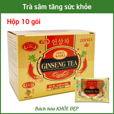 Trà nhân sâm Gold Kaoli Ginseng Tea Hộp 10 gói tăng cường sức khỏe – Nguyên liệu nhập khẩu Hàn Quốc
