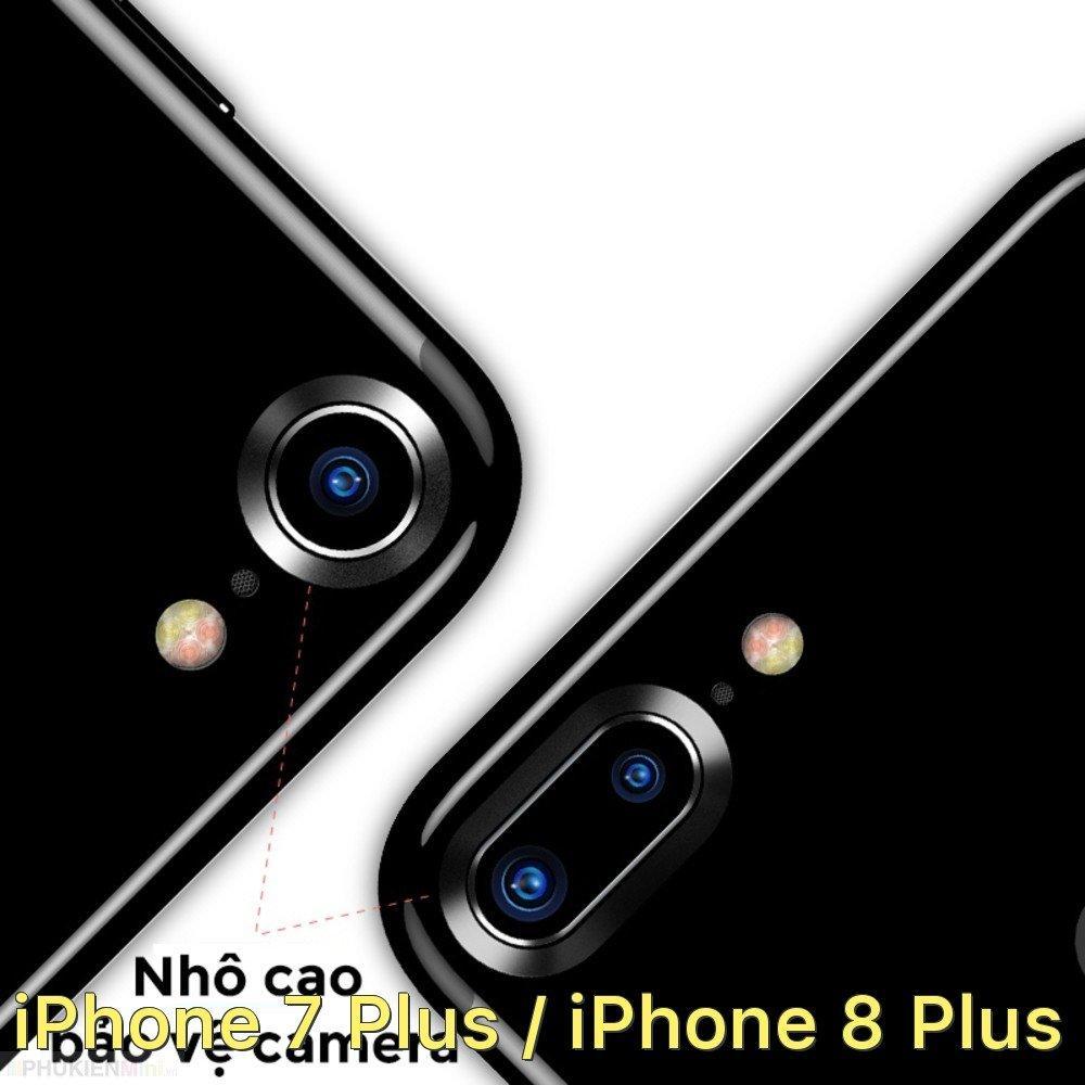 Viền hợp kim bảo vệ camera lồi cho iPhone 7 Plus / iPhone 8 Plus