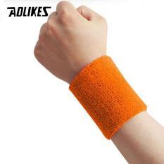 Băng thấm mồ hôi đeo cổ tay khi chơi thể thao Sport Fitnes Absorb Sweat And Wrist Protctor AOLIKES A-0230