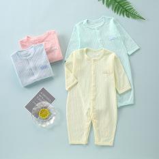 Body liền thân dài tay hè thu cotton cho bé trai và bé gái sơ sinh từ 3-14kg, hàng đẹp xuất Hàn – BD63