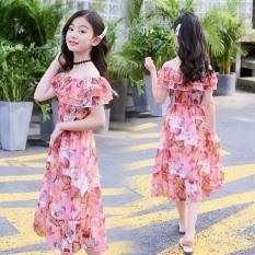 Đầm Maxi bé gái hình bướm size từ 12-42 kg, thiết kế thời trang vải mềm mịn cao cấp mặc lên sang trọng