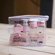 Bộ chiết mỹ phẩm mini 5 món tiện dụng cho bạn gái (Hồng)