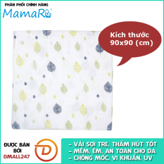 Khăn tắm vải sợi tre cho bé 90×90 Mamaru MA-KT90X90 – Diệt khuẩn, hút ẩm tốt, kháng tia UV – Dmall247, mẹ và bé