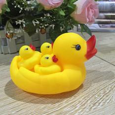 Đàn vịt con thả bồn tắm cho bé yêu siêu ngộ nghĩnh, có tiếng kêu, đàn vịt thả bể bơi đáng yêu