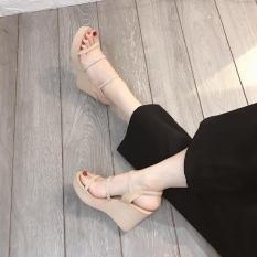 Giày xuồng 9p in chữ siêu đẹp 3 dây mảnh màu đen & nude