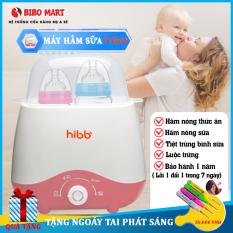 Máy hâm sữa và thức ăn cho bé tiệt trùng 2 bình giữ nhiệt liên tục sữa và nước cho bé với 4 chức năng Tiệt trùng bình sữa, hâm sữa, hâm thức ăn, luộc trứng Bảo hành 12 tháng lỗi đổi mới trong 7 ngày