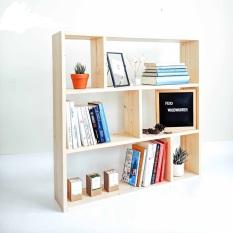 giá sách đứng gỗ thông tự nhiên kích thước 90x60x20 cm trang trí nhà cửa