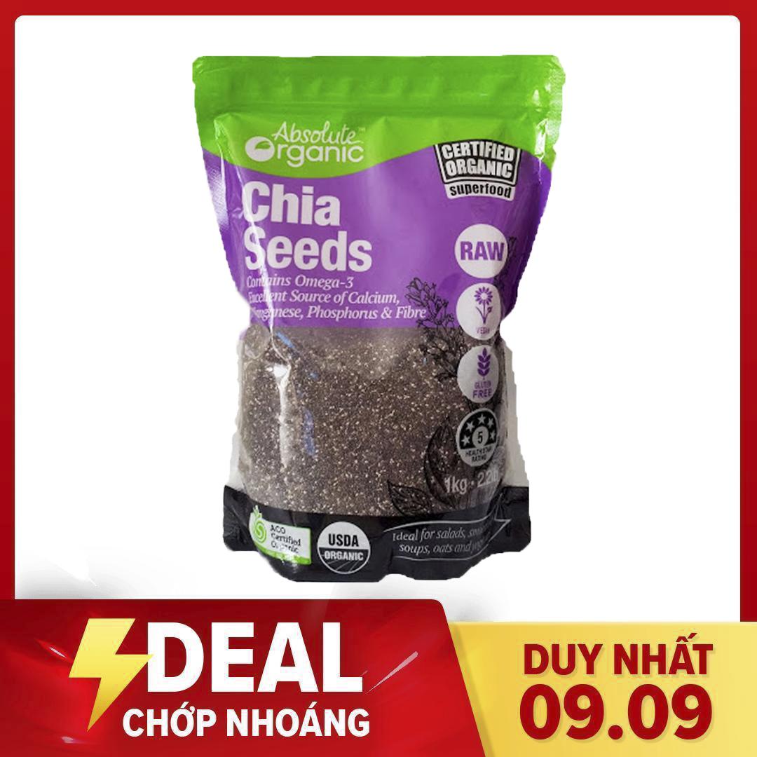 Hạt Chia Seeds Tím Absotute Organic Úc túi 1kg – Hạt Nhập Khẩu