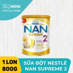 Sản phẩm dinh dưỡng công thức Nestle NAN SUPREME 2 800g cho trẻ từ 6-24 tháng giúp tăng cường sức đề kháng dễ tiêu hoá dễ hấp thu và phòng ngừa nguy cơ dị ứng (chàm sữa)