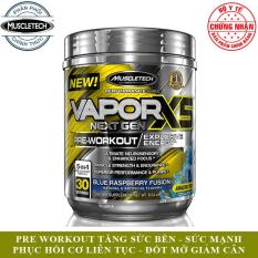 Pre-Workout tăng sức mạnh sức bền trước tập hỗ trợ giảm cân đốt mỡ Vapor X5 của MuscleTech hộp 30 lần dùng