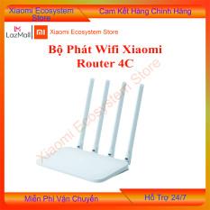 Bộ phát wifi Xiaomi 4C chuẩn N 300Mbps, sản phẩm được thiết kế hình học đơn giản và có sẵn vỏ bọc nhựa màu trắng mờ