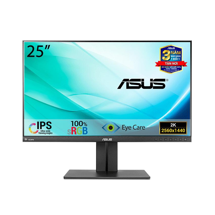 Màn hình Asus Pro Art PB258Q (25inch/QHD/IPS/80Hz/5ms/350nits/HDMI+DP+DSub+DVI+Audio)
