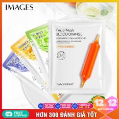 Combo 8 mặt nạ dưỡng da IMAGES mix 4 loại lô hội, việt quất, mật ong, cam đỏ mặt nạ giấy dưỡng ẩm mặt nạ dưỡng trắng nội địa Trung XP-MA15