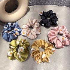 HOTTREND 2020 Cột tóc hoa Cúc Scrunchies chất Lụa mềm mịn cực HOT siêu kute phong cách Hàn cho phái nữ