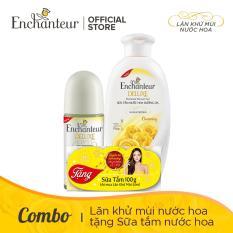 [Tặng Sữa Tắm Nước Hoa Dưỡng Da Charming 100g] Lăn Khử Mùi Hương Nước Hoa Enchanteur Charming 50ml