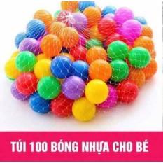 Túi 100 quả bóng đa sắc