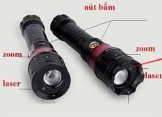 Bút laser 2 Tia Xanh Lá Và Đỏ Trong 1 Cao Cấp